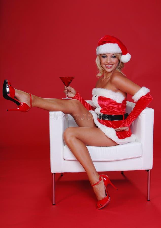 Χριστούγεννα martini στοκ φωτογραφία