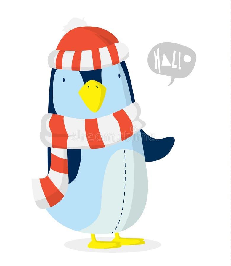 Χριστούγεννα Penguin απεικόνιση αποθεμάτων