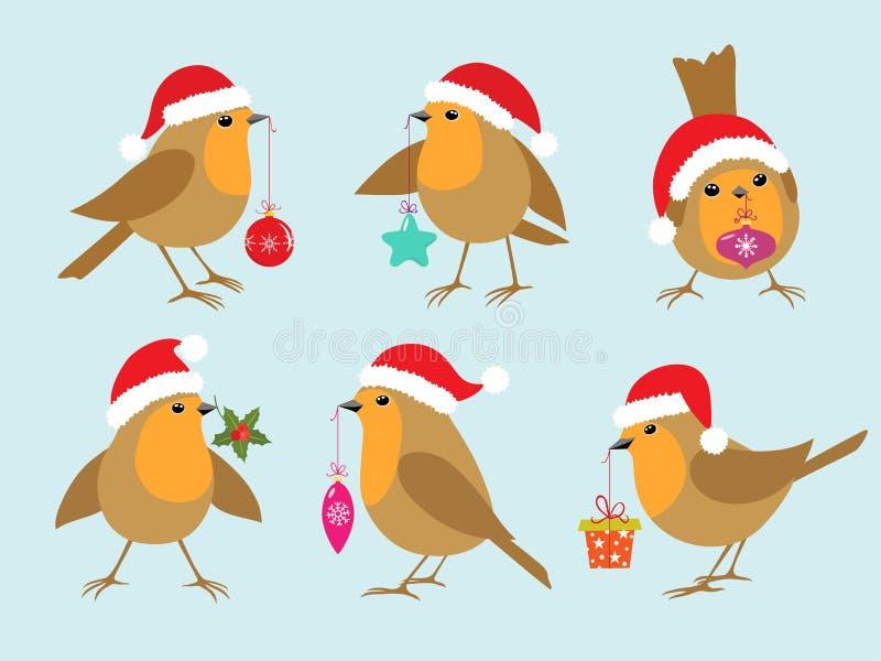 Χριστούγεννα Robins ελεύθερη απεικόνιση δικαιώματος