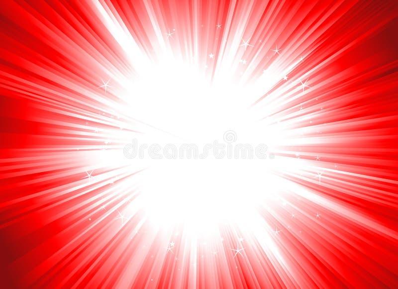 Χριστούγεννα starburst διανυσματική απεικόνιση