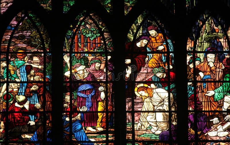 Χριστός και η μοιχαλίδα στοκ φωτογραφίες