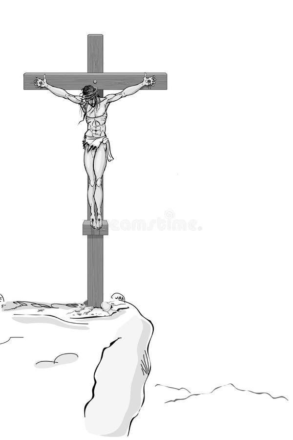 Χριστός ο διαγώνιος Ιησούς διανυσματική απεικόνιση