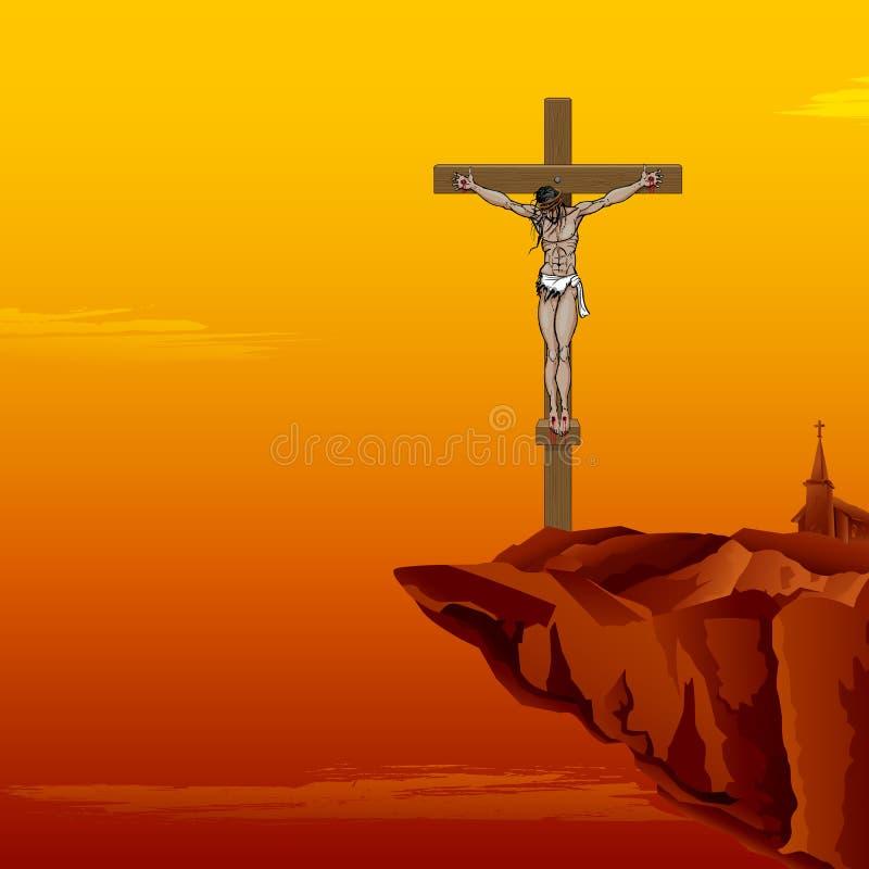 Χριστός ο διαγώνιος Ιησούς απεικόνιση αποθεμάτων