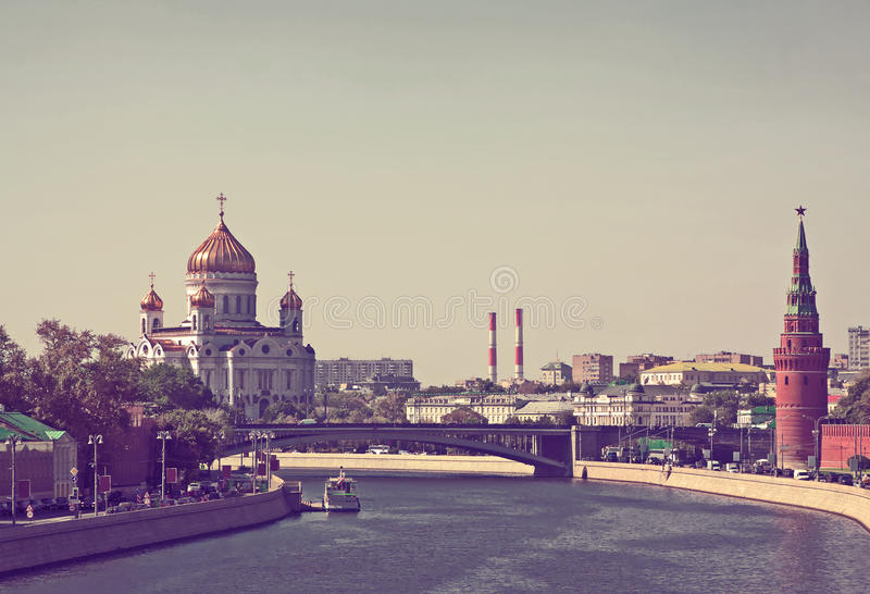 Χριστός ο καθεδρικός ναός Savior μια Μόσχα Κρεμλίνο στοκ φωτογραφίες με δικαίωμα ελεύθερης χρήσης