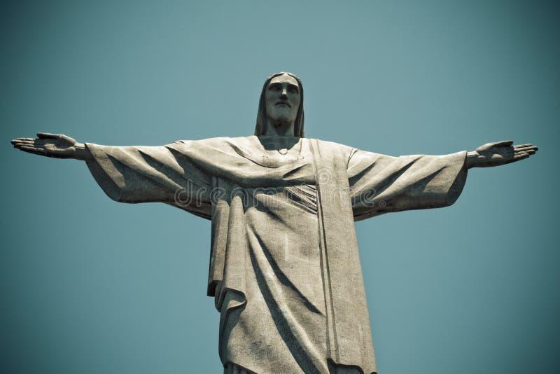Χριστός το Ρίο ντε Τζανέιρο Βραζιλία απελευθερωτών στοκ εικόνα με δικαίωμα ελεύθερης χρήσης