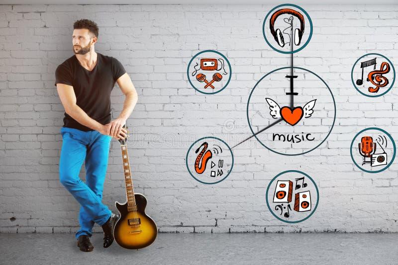 Χρονική έννοια μουσικής στοκ φωτογραφία με δικαίωμα ελεύθερης χρήσης