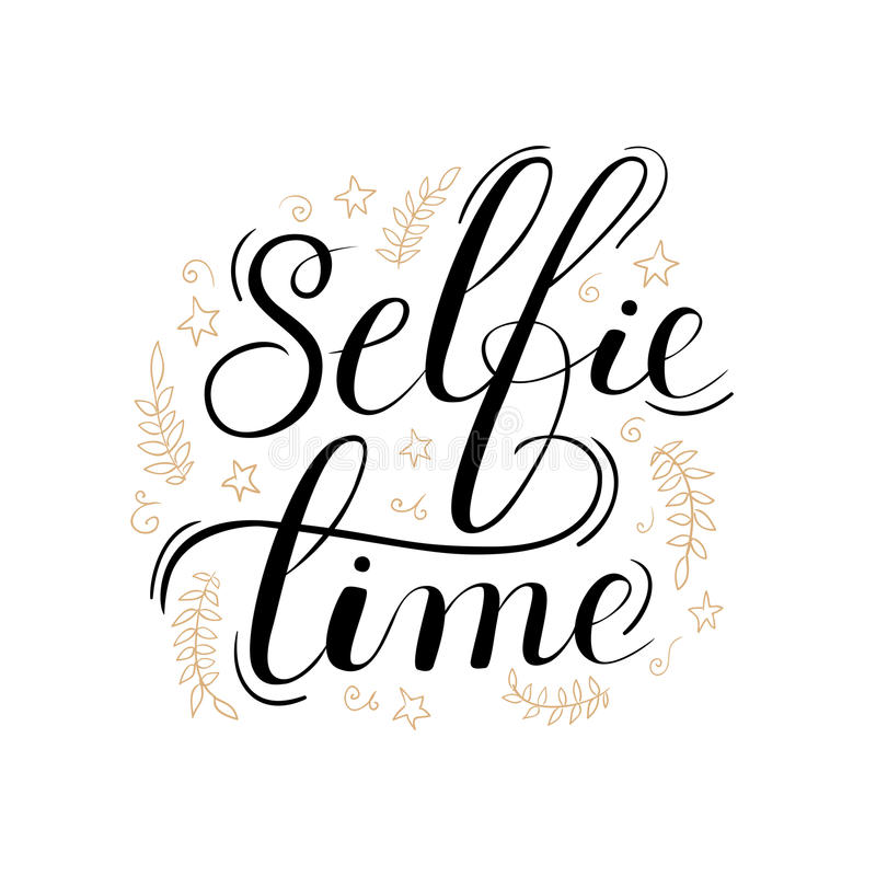 Χρονική γράφοντας αφίσα Selfie απεικόνιση αποθεμάτων