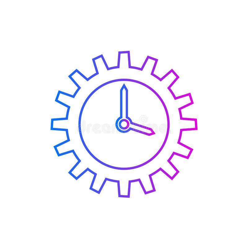 Χρονική διαχείριση, διανυσματικό εικονίδιο αποδοτικότητας απεικόνιση αποθεμάτων
