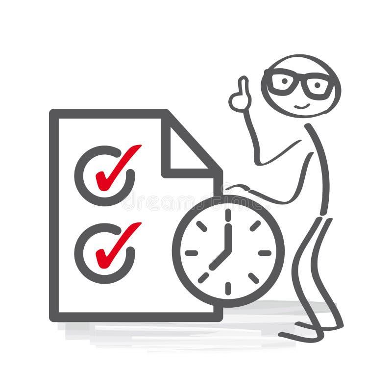 Χρονική διαχείριση και διανυσματική απεικόνιση προγράμματος ελεύθερη απεικόνιση δικαιώματος