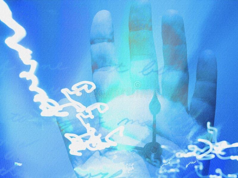 Χρονική επιτάχυνση χεριών ελεύθερη απεικόνιση δικαιώματος