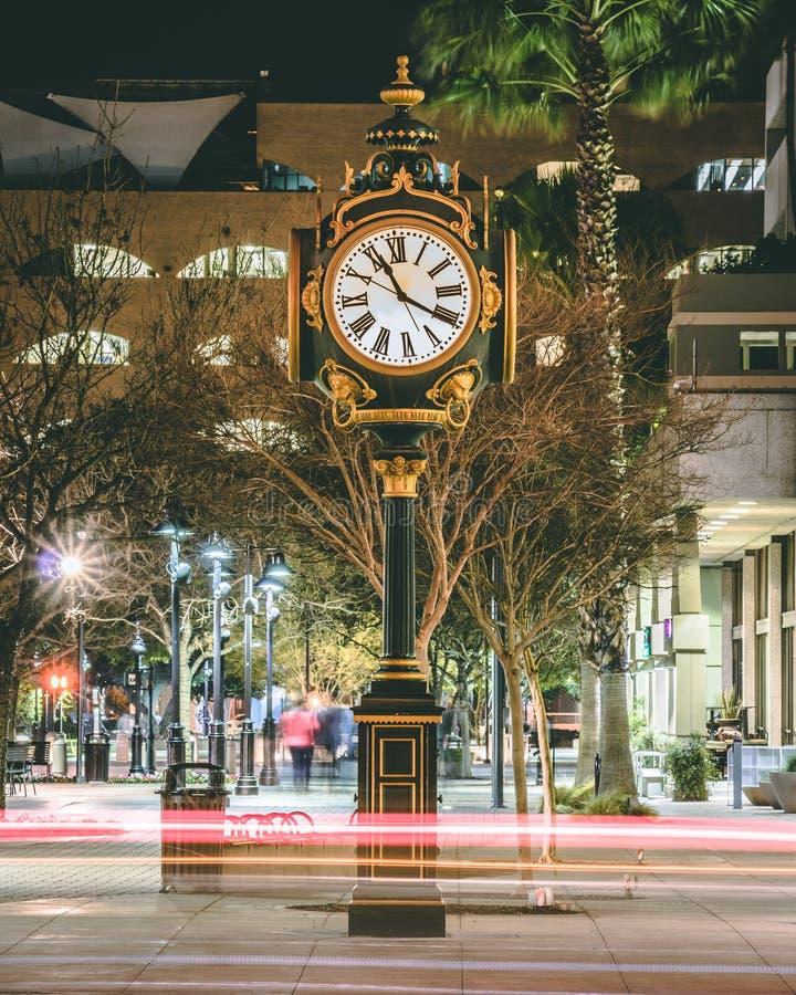 Χρονική μηχανή τή νύχτα στοκ εικόνα με δικαίωμα ελεύθερης χρήσης