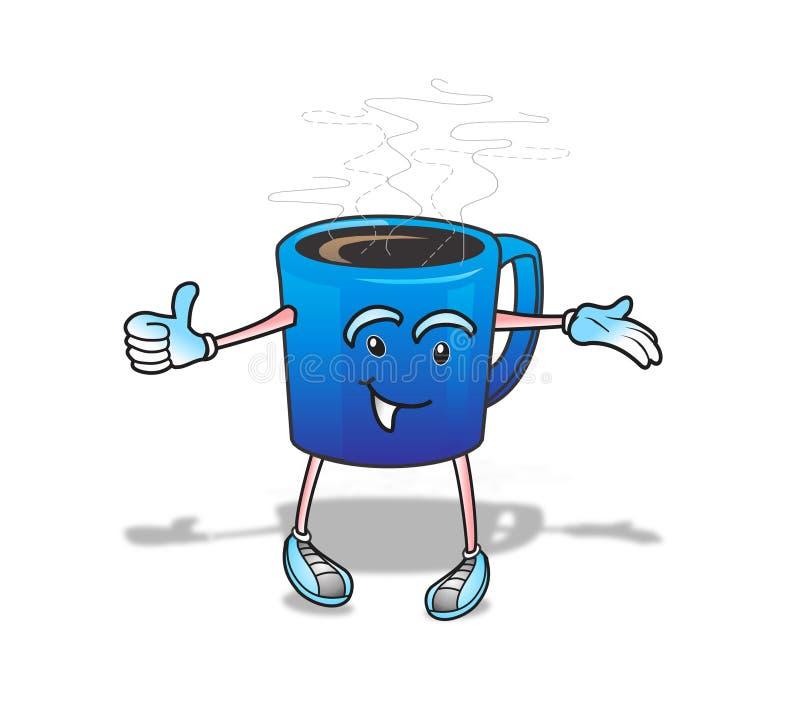 Χρονικό άτομο καφέ ελεύθερη απεικόνιση δικαιώματος
