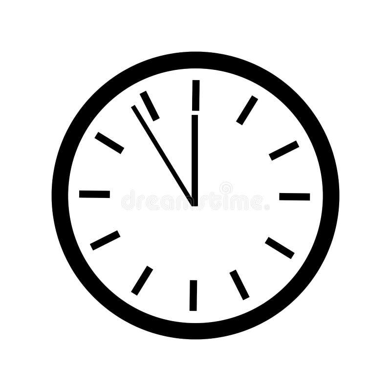 Χρονικό απομονωμένο ρολόι εικονίδιο διανυσματική απεικόνιση