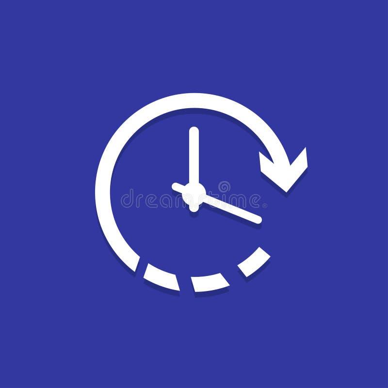 Χρονικό εικονίδιο 'Ένδειξη ώρασ' με το βέλος επίσης corel σύρετε το διάνυσμα απεικόνισης απεικόνιση αποθεμάτων