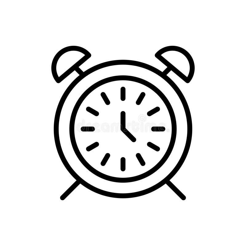 Χρονικό εικονίδιο ή λογότυπο ασφαλίστρου στο ύφος γραμμών απεικόνιση αποθεμάτων