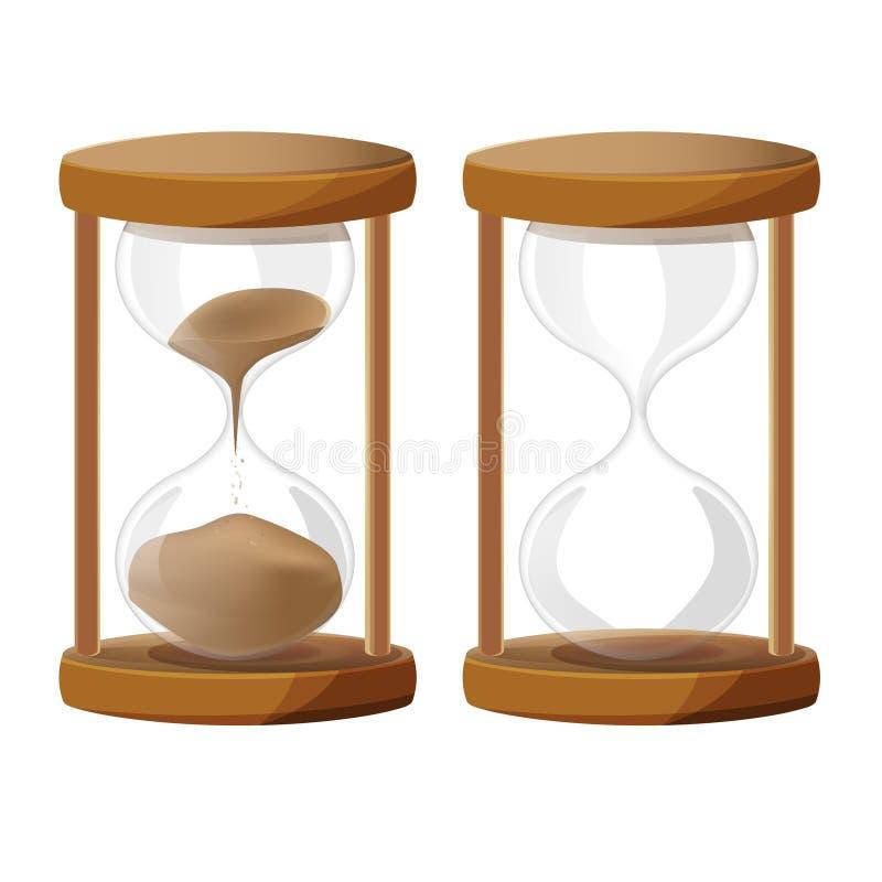 Χρονικό ρολόι γυαλιού άμμου διανυσματική απεικόνιση