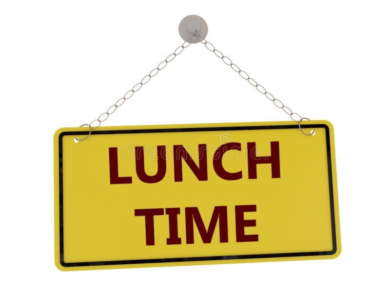 Χρονικό σημάδι μεσημεριανού γεύματος διανυσματική απεικόνιση