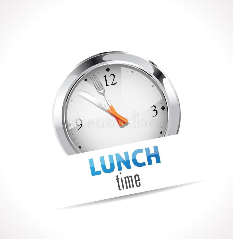 Χρονικό σημάδι μεσημεριανού γεύματος ελεύθερη απεικόνιση δικαιώματος
