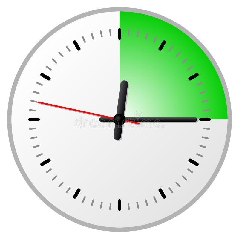 Χρονόμετρο με 15 δεκαπέντε λεπτά διανυσματική απεικόνιση
