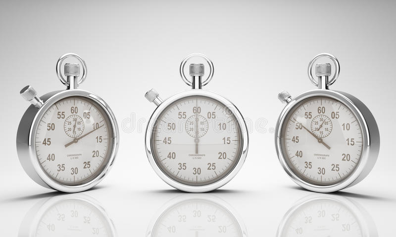 Χρονόμετρο με διακόπτη με το ψαλίδισμα του μονοπατιού για τους πίνακες και το ρολόι στοκ εικόνα