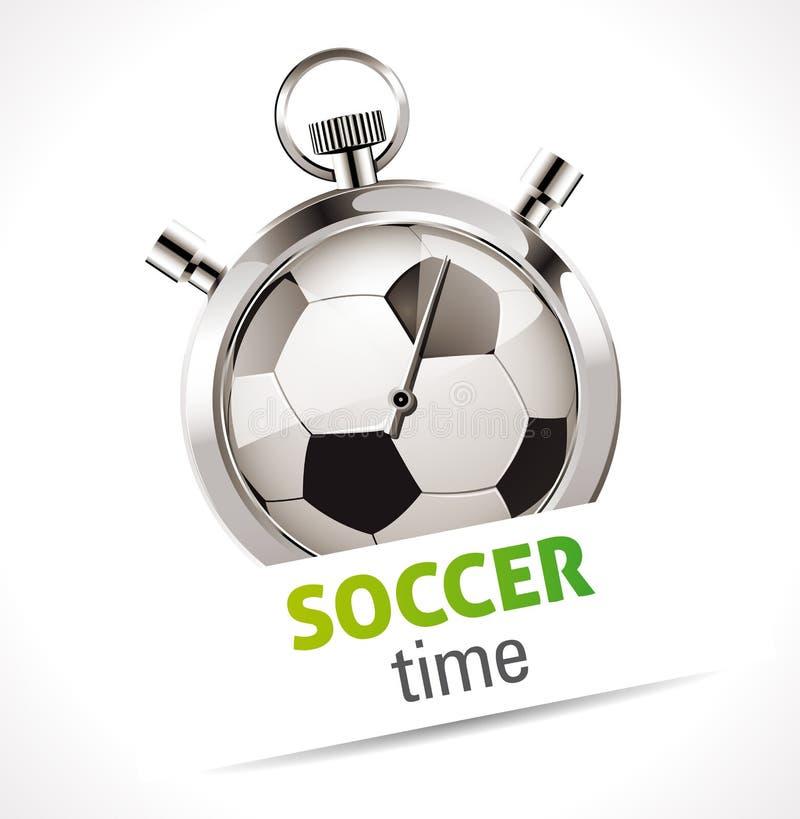 Χρονόμετρο με διακόπτη - αθλητικό ποδόσφαιρο διανυσματική απεικόνιση
