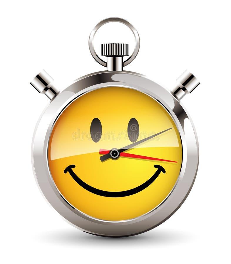 Χρονόμετρο με διακόπτη - ευτυχής ώρα ελεύθερη απεικόνιση δικαιώματος