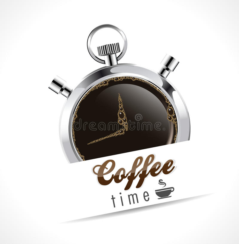 Χρονόμετρο με διακόπτη - χρόνος καφέ ελεύθερη απεικόνιση δικαιώματος