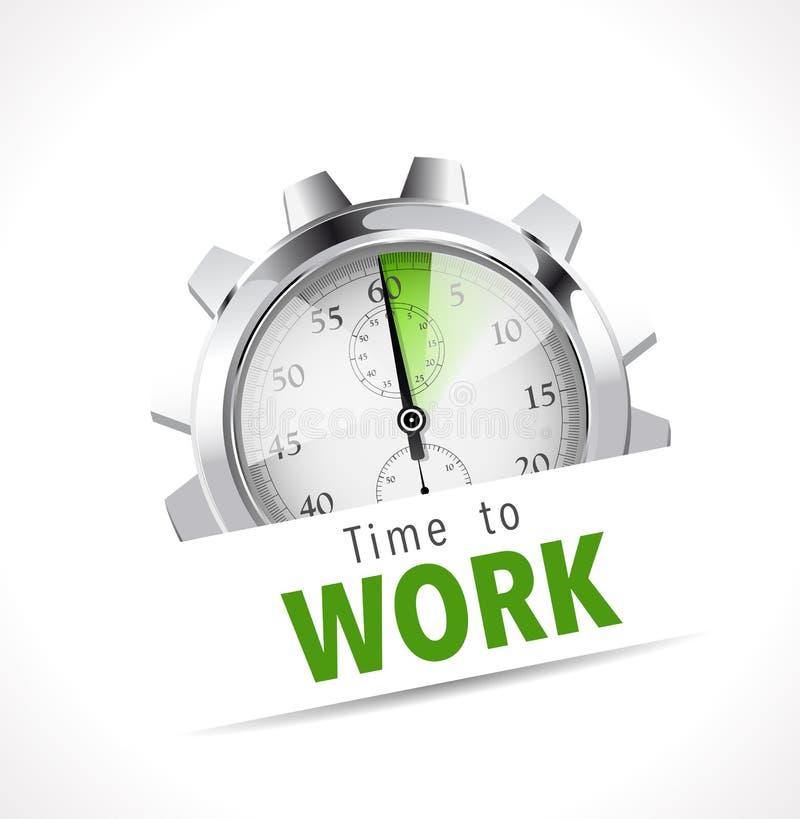 Χρονόμετρο με διακόπτη - χρόνος να εργαστεί απεικόνιση αποθεμάτων