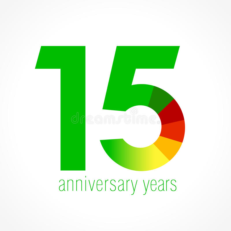 15 χρονών λογότυπο ελεύθερη απεικόνιση δικαιώματος