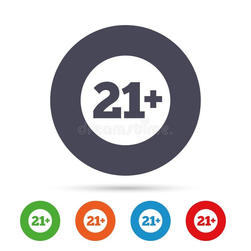 21 χρονών σημάδι Περιεκτικότητα σε ενηλίκους ελεύθερη απεικόνιση δικαιώματος
