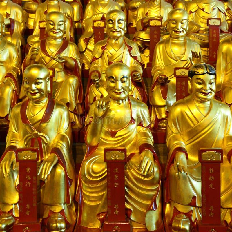 Χρυσά αγάλματα του Lohans στοκ φωτογραφίες με δικαίωμα ελεύθερης χρήσης