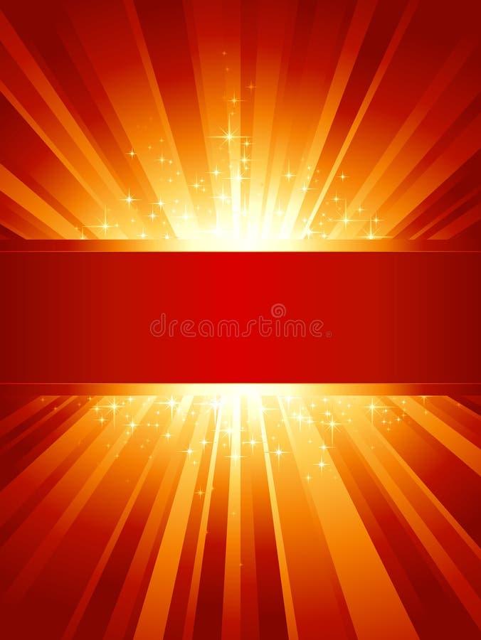 χρυσά ανοικτό κόκκινο δια διανυσματική απεικόνιση