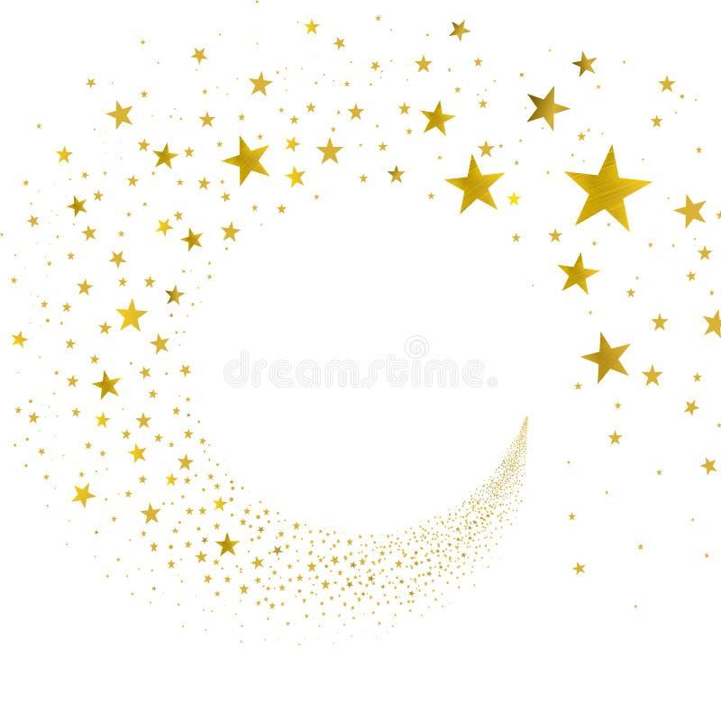 Χρυσά αστέρια ρευμάτων απεικόνιση αποθεμάτων