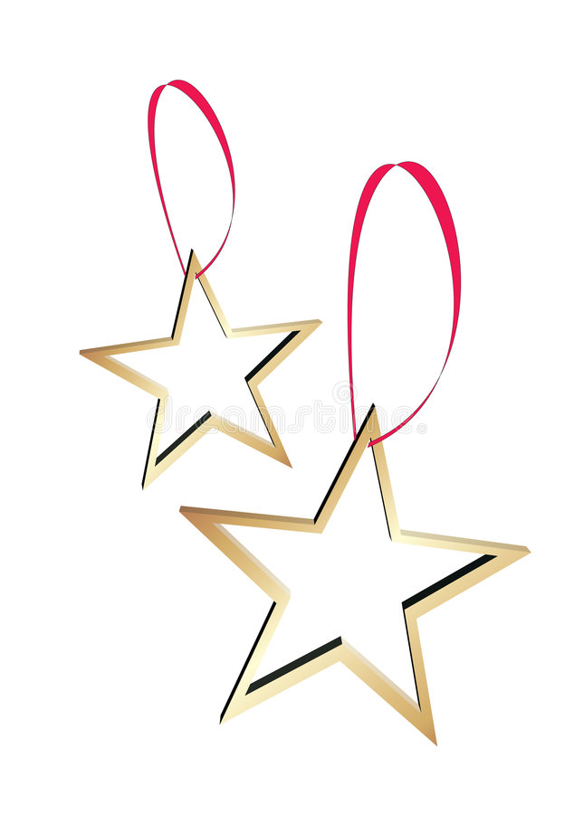 χρυσά αστέρια διανυσματική απεικόνιση