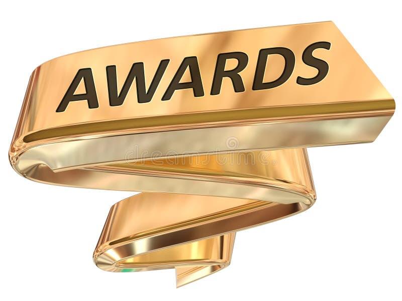 Χρυσά βραβεία εμβλημάτων απεικόνιση αποθεμάτων