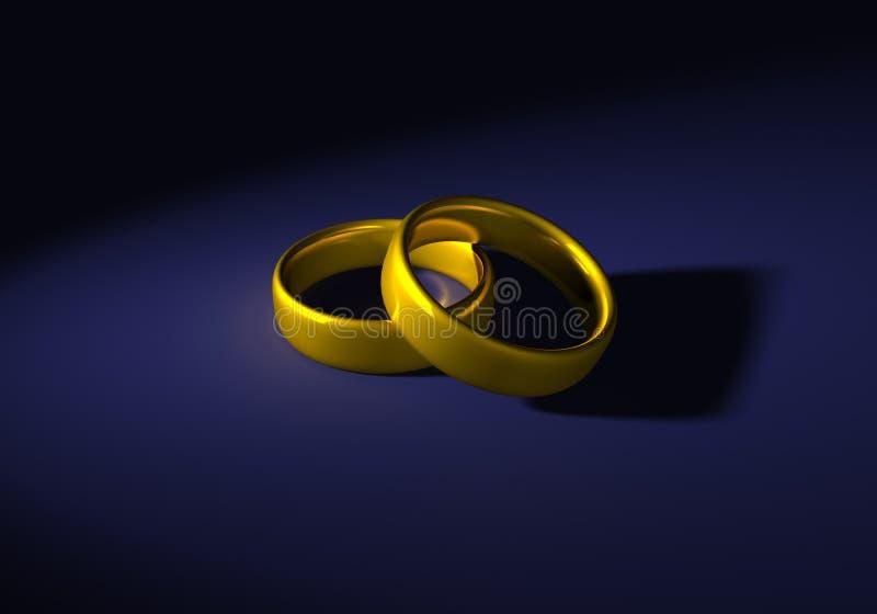 χρυσά δαχτυλίδια δύο ελεύθερη απεικόνιση δικαιώματος