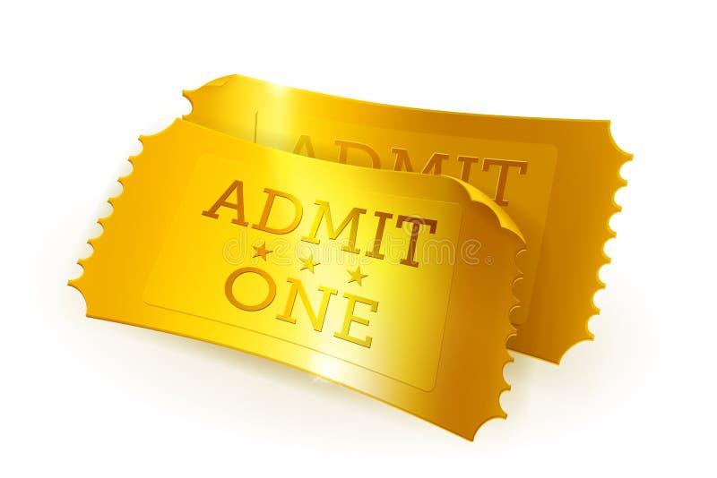 χρυσά εισιτήρια απεικόνιση αποθεμάτων