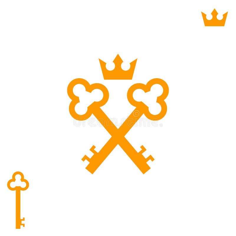 Χρυσά κλειδιά r ελεύθερη απεικόνιση δικαιώματος