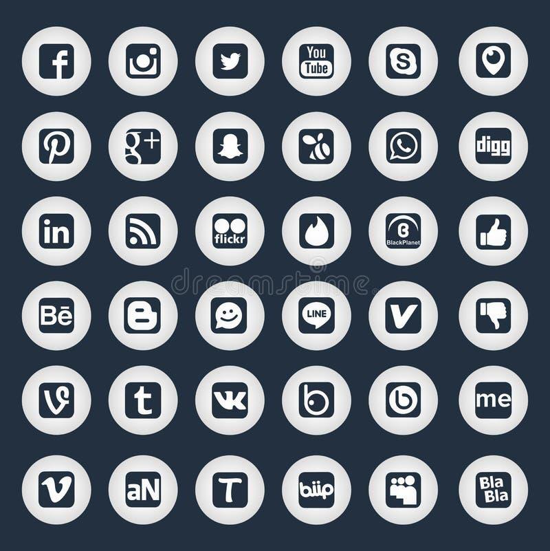 Χρυσά κοινωνικά εικονίδια δικτύων διανυσματική απεικόνιση