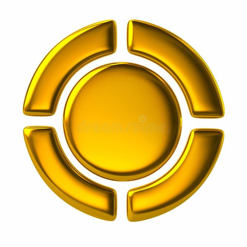 Χρυσά κουμπιά ελέγχου φορέων ελεύθερη απεικόνιση δικαιώματος