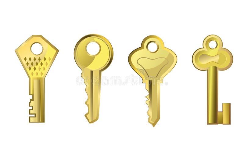 Χρυσά κλειδιά απεικόνιση αποθεμάτων