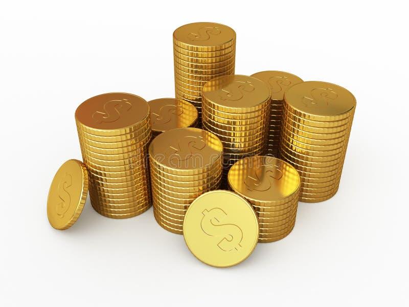 Χρυσά νομίσματα διανυσματική απεικόνιση