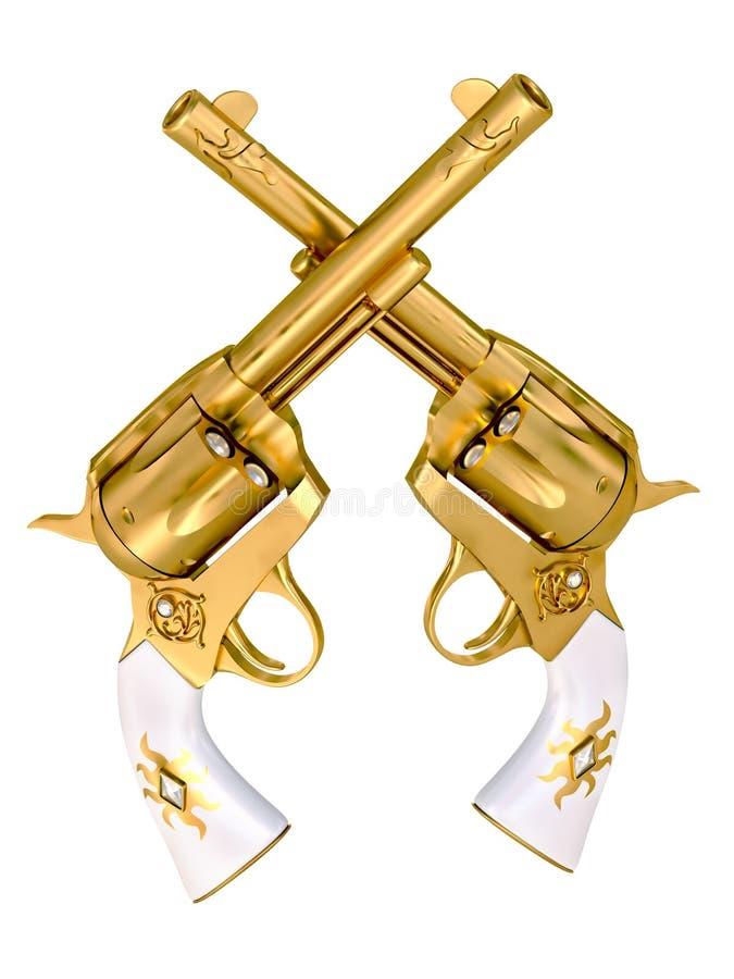χρυσά περίστροφα διανυσματική απεικόνιση