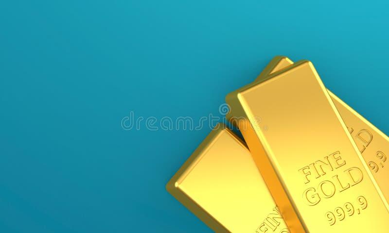 Χρυσά πλινθώματα απεικόνιση αποθεμάτων