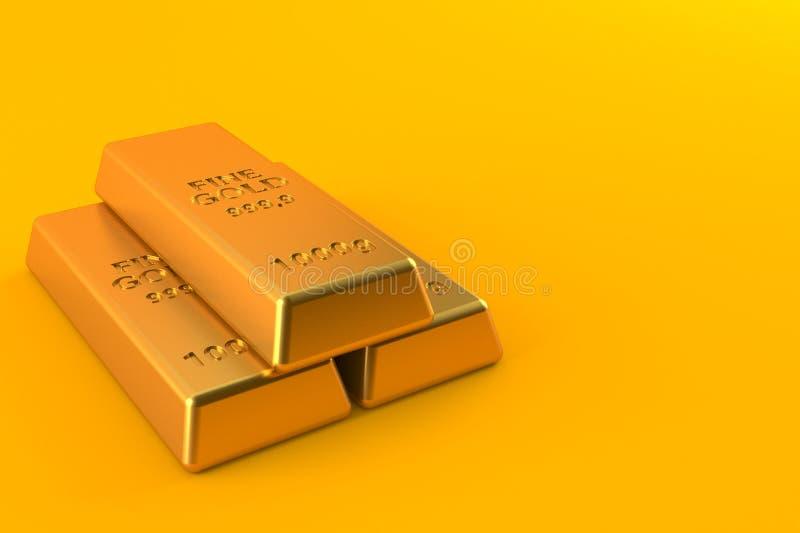 Χρυσά πλινθώματα διανυσματική απεικόνιση