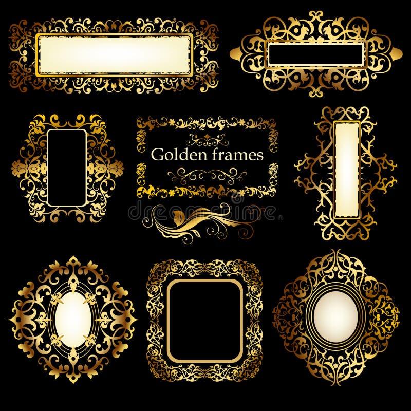 Χρυσά πρότυπα διανυσματική απεικόνιση