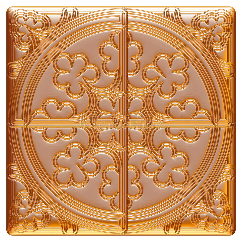 Χρυσά στοιχεία σχεδίου _ τρισδιάστατη απεικόνιση ελεύθερη απεικόνιση δικαιώματος