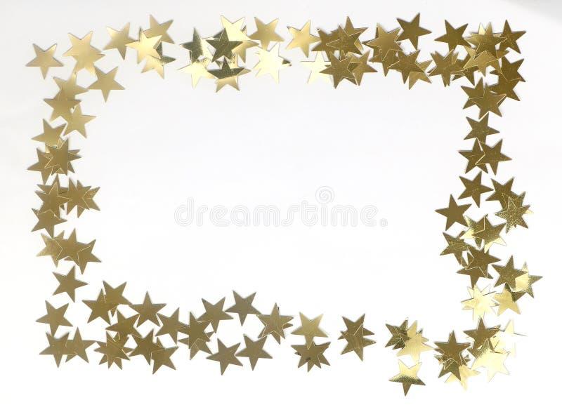 Χρυσά σύνορα αστεριών στοκ φωτογραφία με δικαίωμα ελεύθερης χρήσης