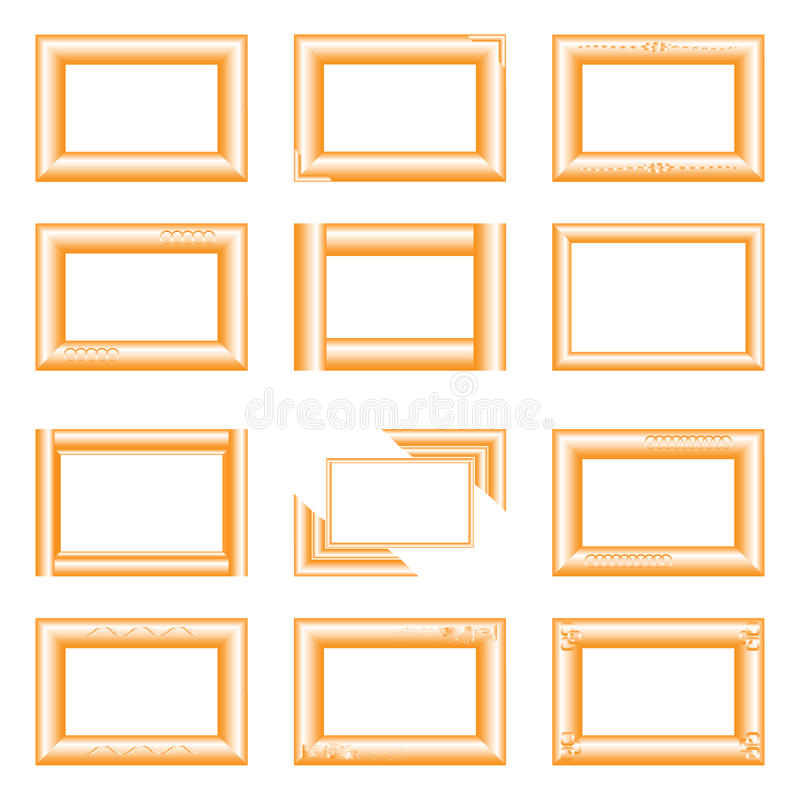 Χρυσά τετραγωνικά πλαίσια στοκ φωτογραφία με δικαίωμα ελεύθερης χρήσης