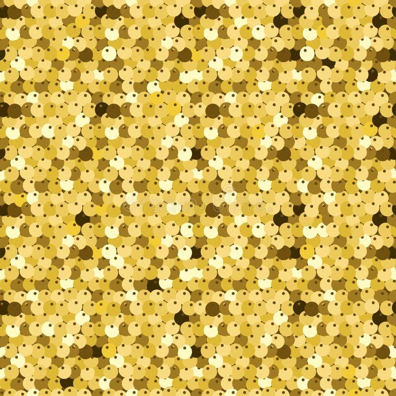 Χρυσά τσέκια Η σύσταση πολυτέλειας, αστράφτει paillettes στοκ εικόνα με δικαίωμα ελεύθερης χρήσης